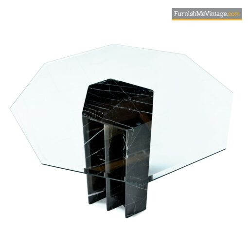 black marble glass modern dining table
