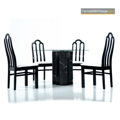 black marble table asian modern