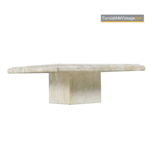 cubist modern stone coffee table