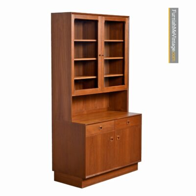 danish teak china hutch