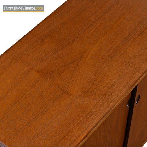 danish teak sliding door cabinet