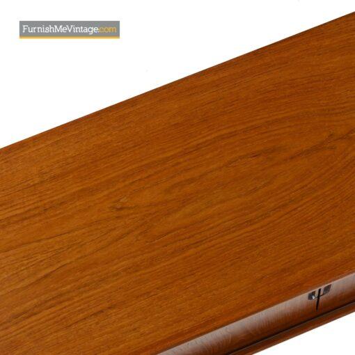 danish teak sliding door sideboard