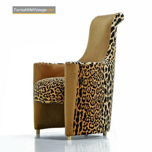 highback armchairs hollywood regency