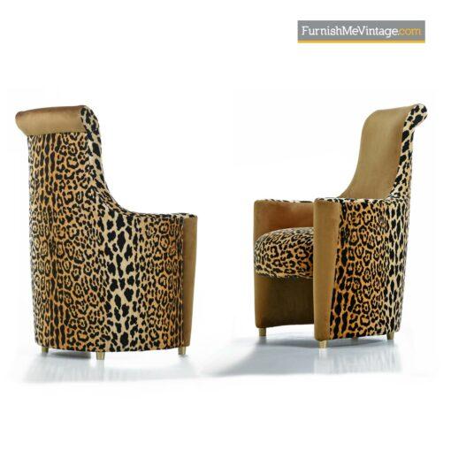 leopard print art deco modern chairs