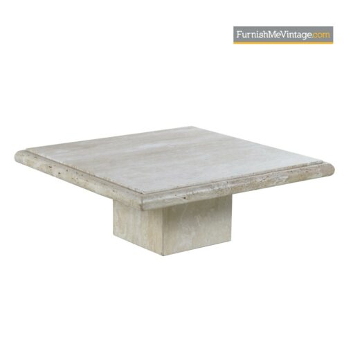 modern travertine pedestal coffee table
