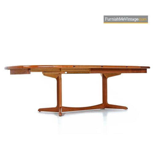 scandinavian modern teak dining table
