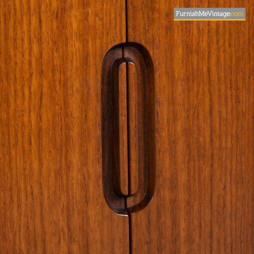 teak credenza mcm sliding doors