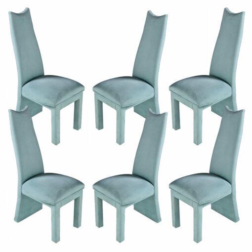 Aqua Blue Seafoam Green Modern Coastal Dining Chairs