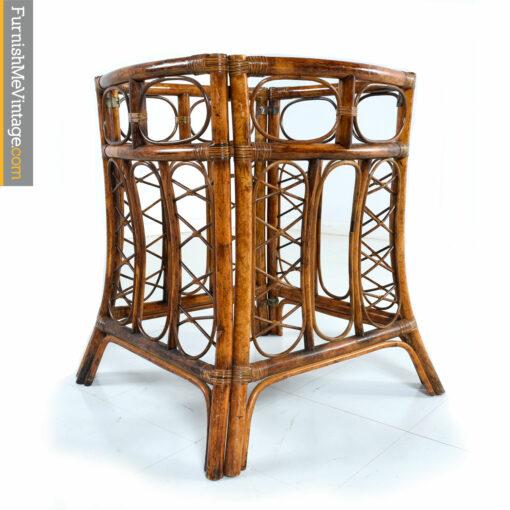bohemian rattan table