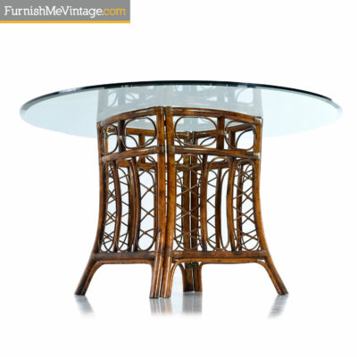 boho tommy bahama rattan dining table