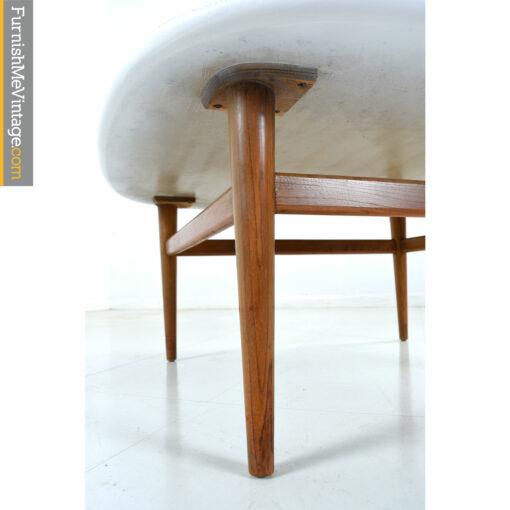 galloways white walnut coffee table