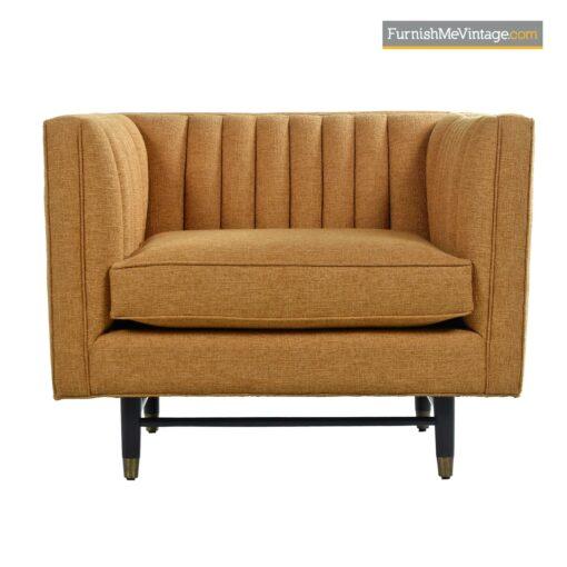 mid century modern cubist club chair