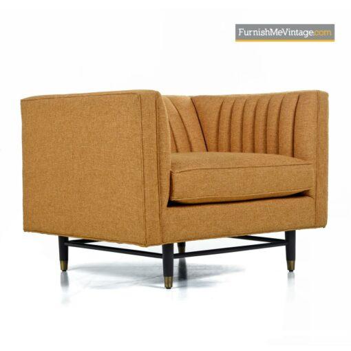 mid century modern tuxedo chair