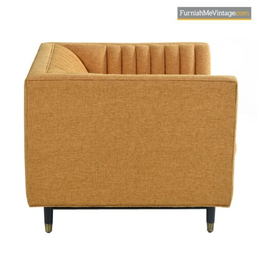 mid century modern tuxedo club chair