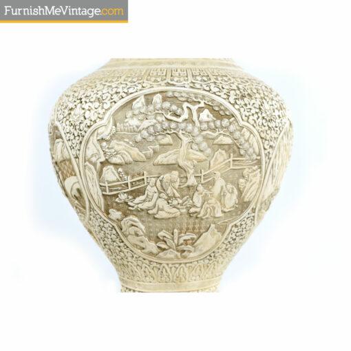 oriental chalkware lamp