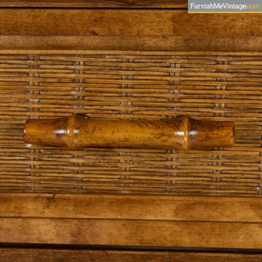 retro bamboo cane dresser