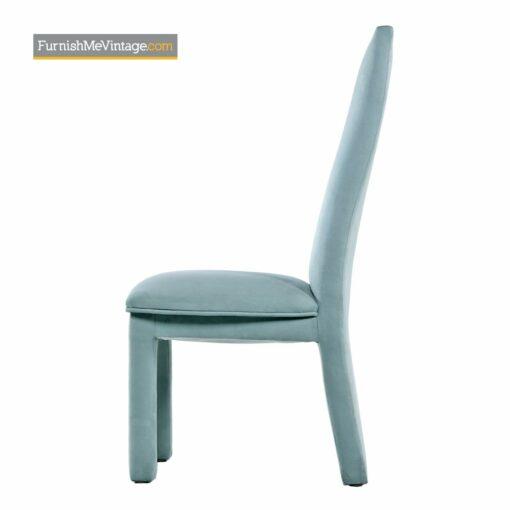teal microfiber parsons highback chairs