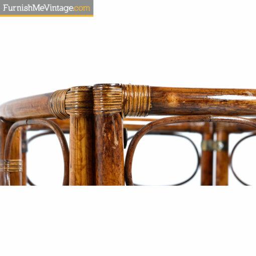 woven rattan table base