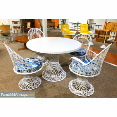 russell woodard fiberglass vintage patio set