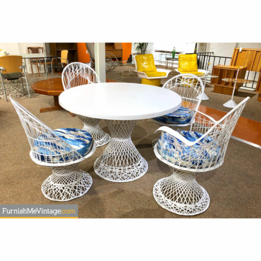 russell woodard fiberglass vintage patio set