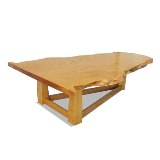 birdseye maple live edge coffee table