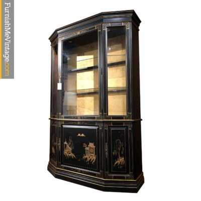 china cabinet black lacquer painted