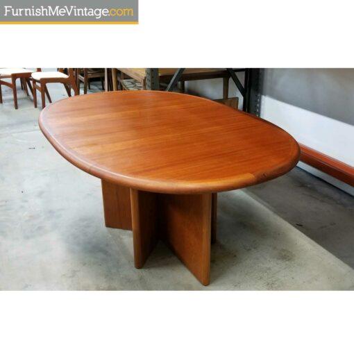 expanding ansager teak table