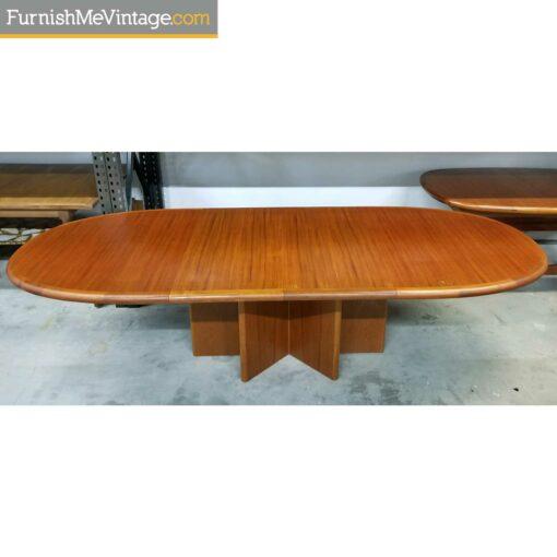 expanding danish teak dining table