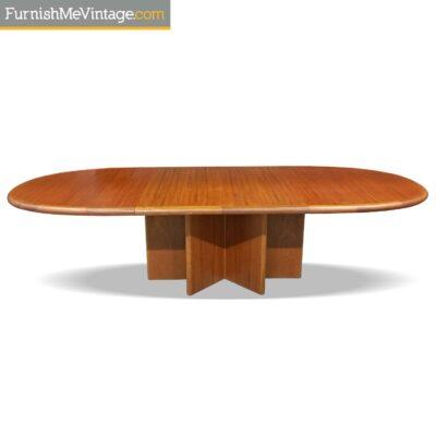 expanding danish teak table