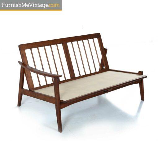 italian wood frame sofa