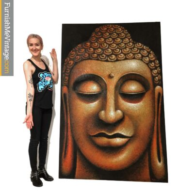 large buddha painting