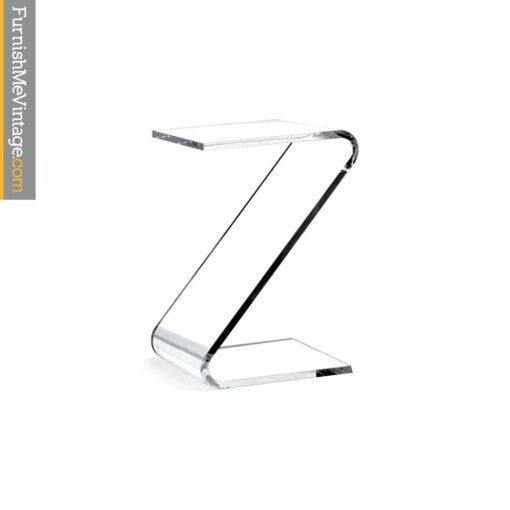 z shaped acrylic table