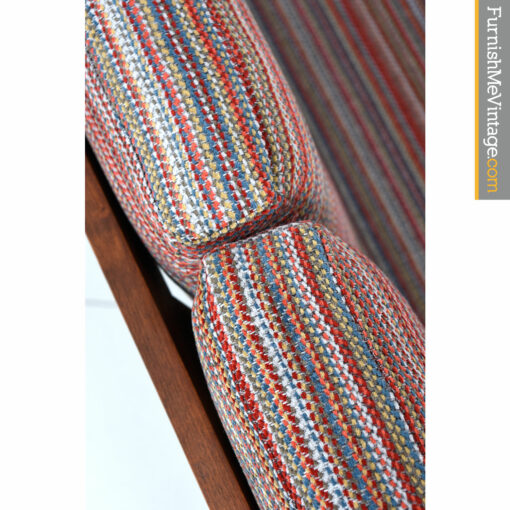 striped retro fabric