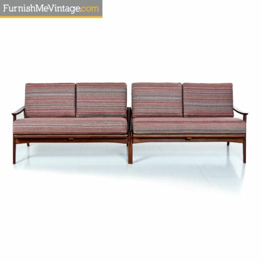 wood frame mid century-modern sofa