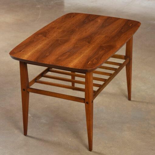 danish walnut side table