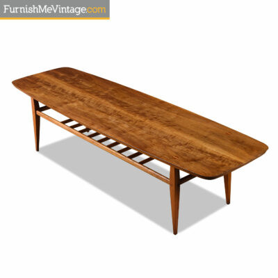 mid century walnut lane accent table