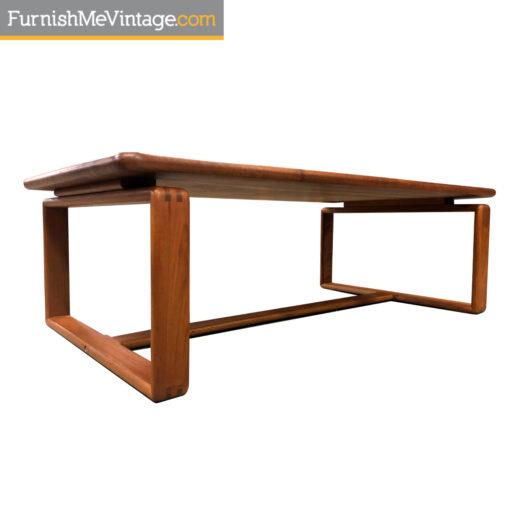 scandinavian modern teak coffee table