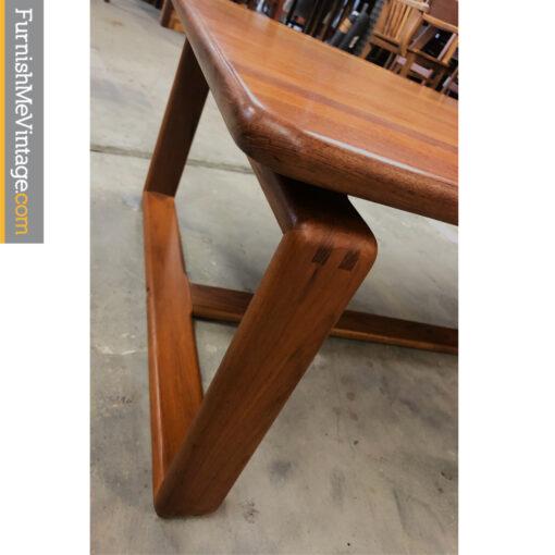 solid teak coffee table
