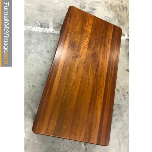 solid teak coffee table danish
