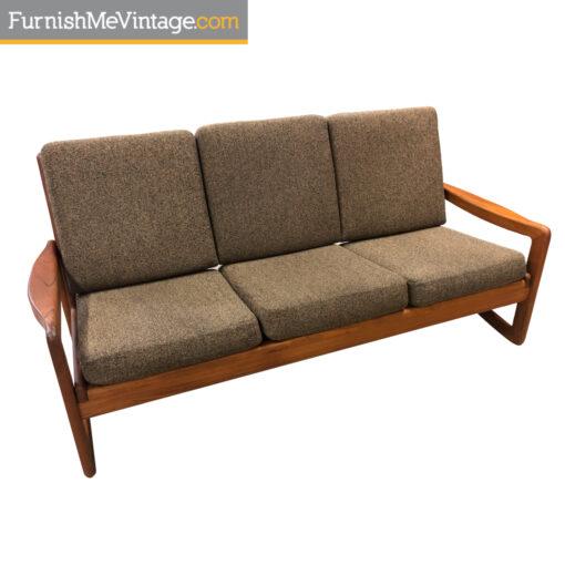 teak sofa mid century modern
