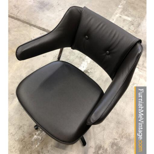 vintage black swivel task chair