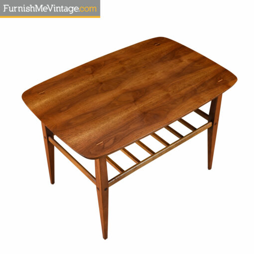 vintage walnut lane accent side table