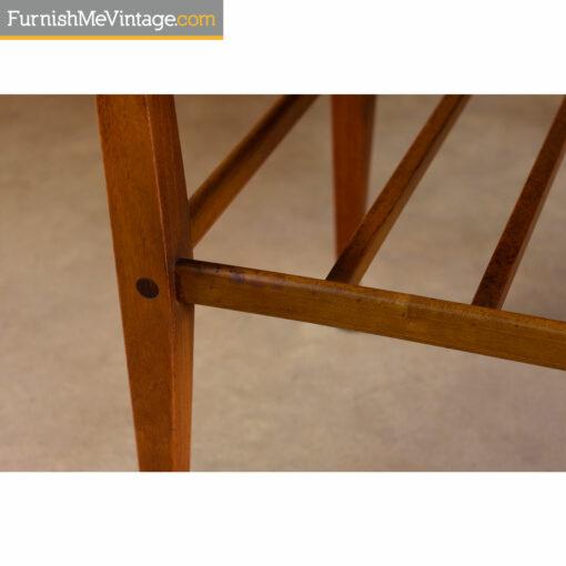 walnut end table legs