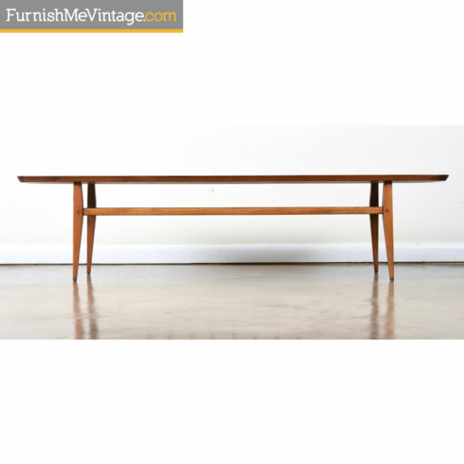 walnut tiered coffee table