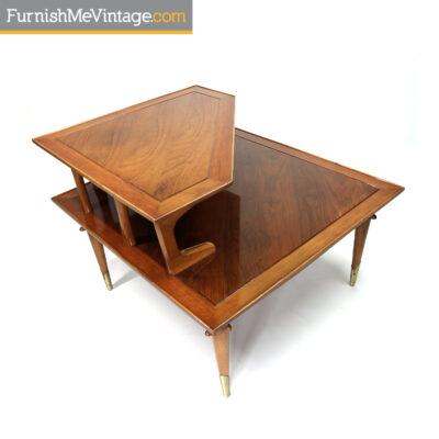 Lane Copenhagen mid-century modern corner table