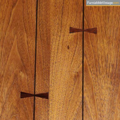 lane tuxedo rosewood bowtie nightstand