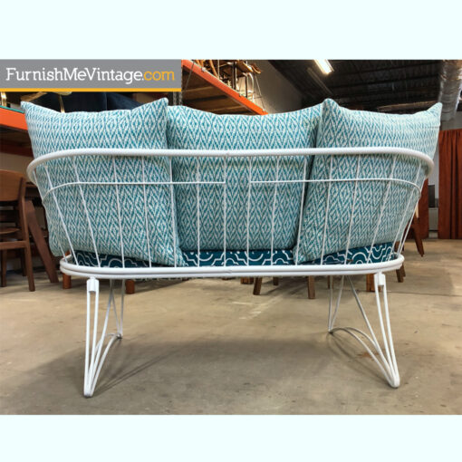 Homecrest mid-century modern outdoor retro patio loveseat sofa