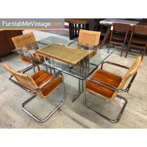 Chromcraft Wicker Dining Set