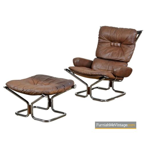 ingmar rellilng rosewood chrome lounge chair
