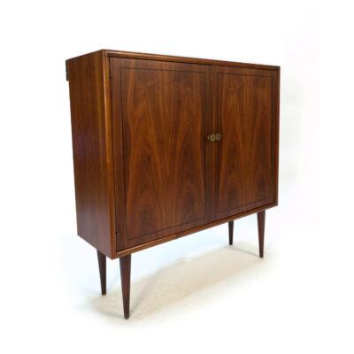 Kipp Stewart Drexel Declaration mid century walnut cabinet